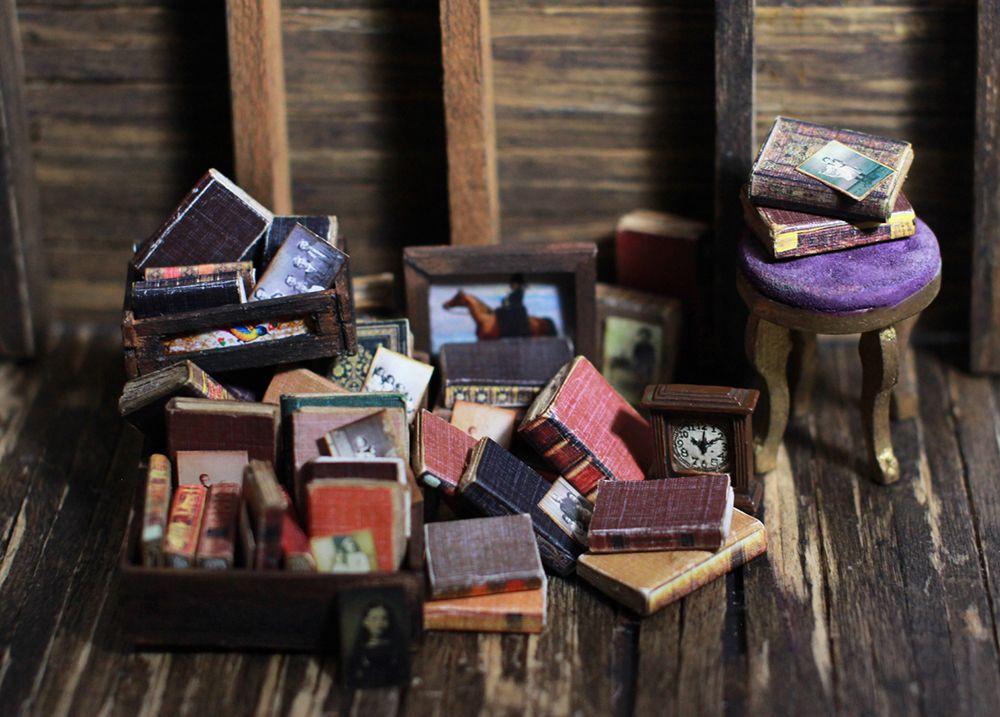dollhouse miniature books