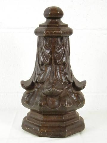 Cast Iron Architectural Ornament Measuring Roximately 6 3 4 Wide X 12 1 2 Tall Thick Makes A Great Decorator Piece Item 8479