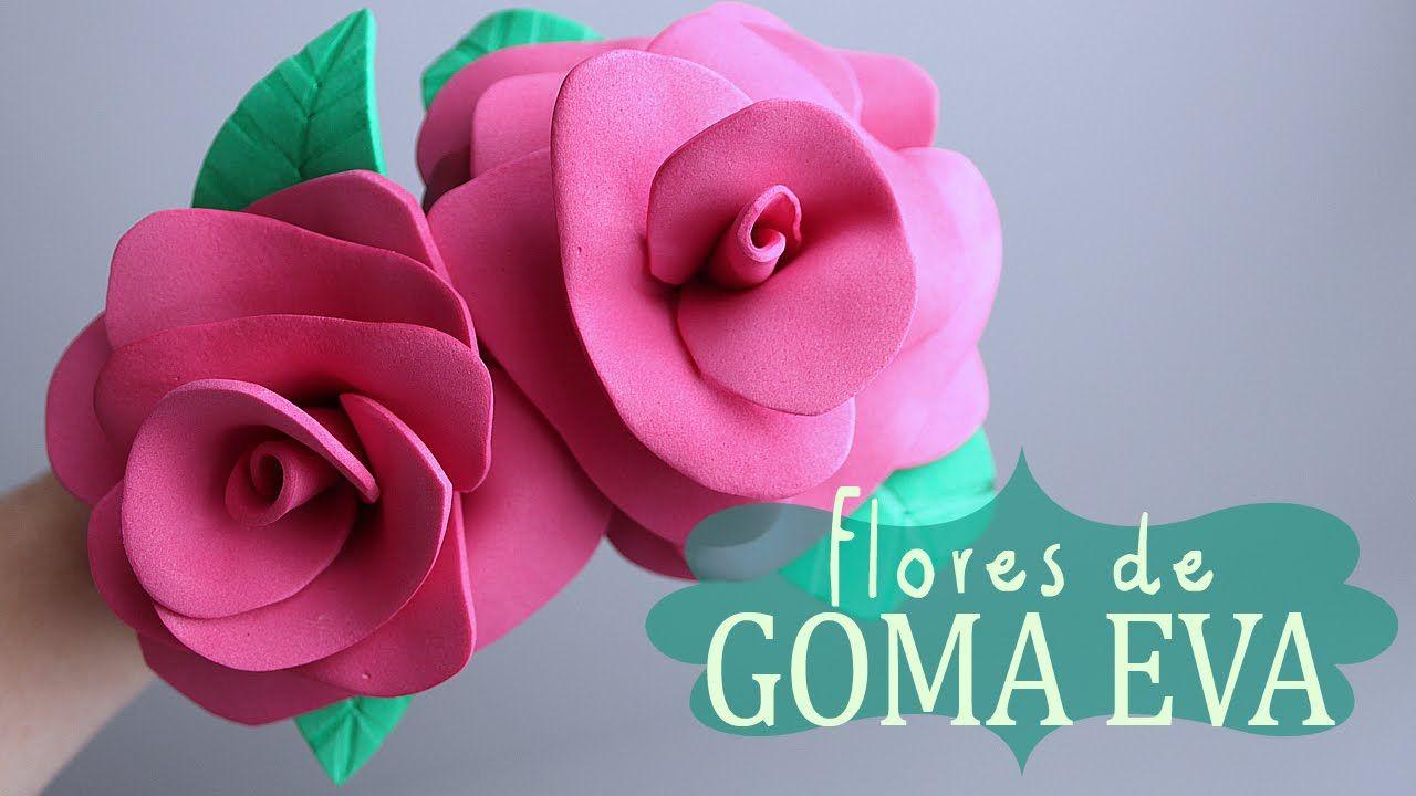 Flores de GOMA EVA Fácil y rápido ✿ (con imágenes) | Rosas en goma eva,  Manualidades, Rosas de foami