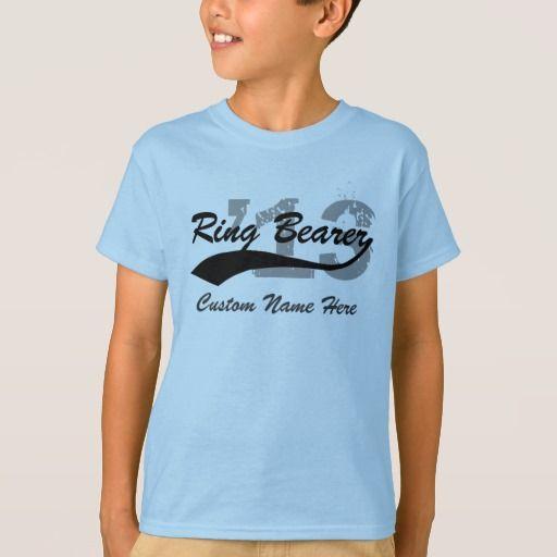 Ring Bearer Shirt, Name+Year T-Shirt