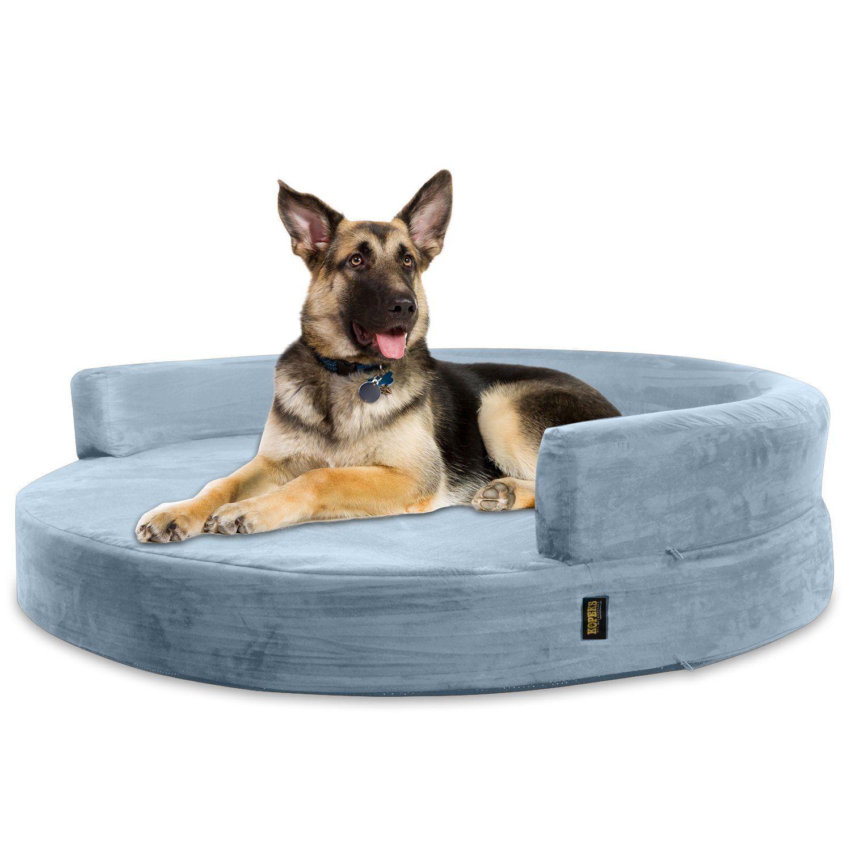 KOPEKS Deluxe Orthopedic Memory Foam ROUND Sofa Lounge Dog