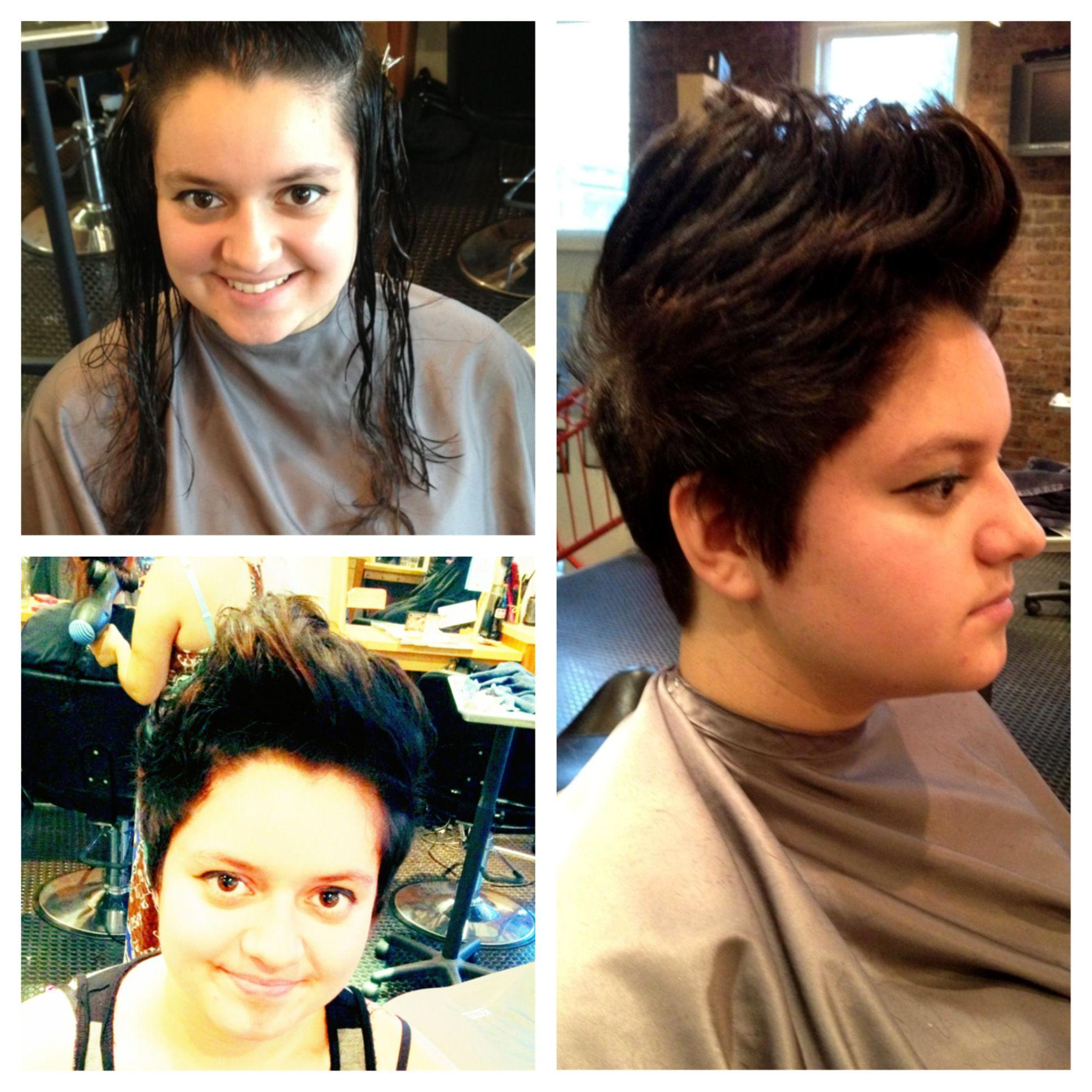 Hair Transformation Hair Cut Haircut Funky Fresh Edgy Fun