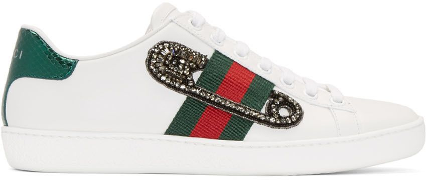 6519c880c223 Gucci - White Safety Pin New Ace Sneakers