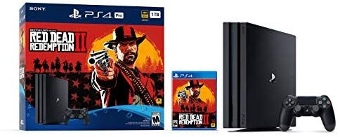 ecac60d779c66 Amazon.com  PlayStation 4 Pro 1TB Console - Red Dead Redemption 2 Bundle   Video Games