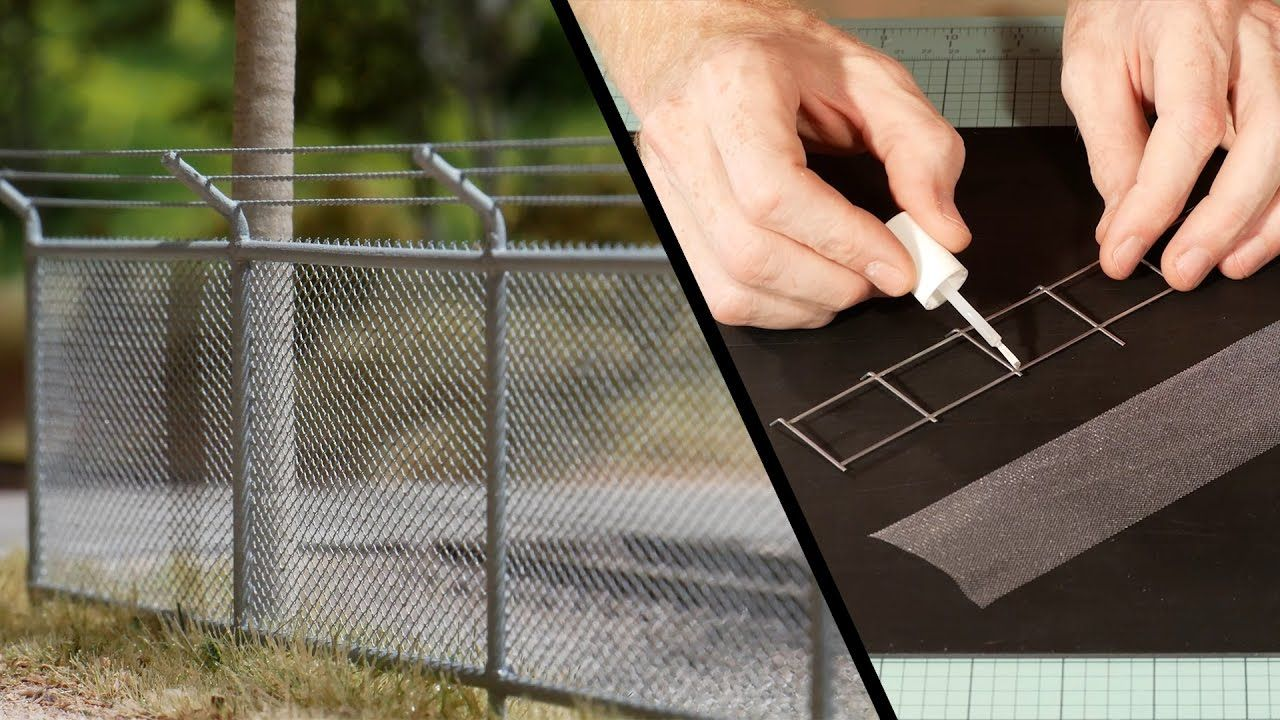 A Cheap And Very Easy Way Of Making Very Realistic Chain Link Fence Not Only With Simple Galvanized Steel Wire Model Trains Model Train Layouts Train Layouts