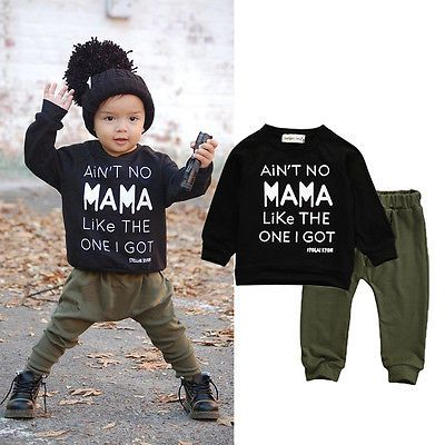 b35b3fc23304 2pcs!!Newborn Toddler Infant Kid Baby Boy Autumn Winter Clothes ...