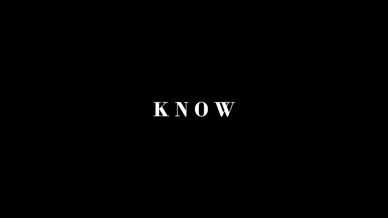 """""""It's time you knew..."""" Video 