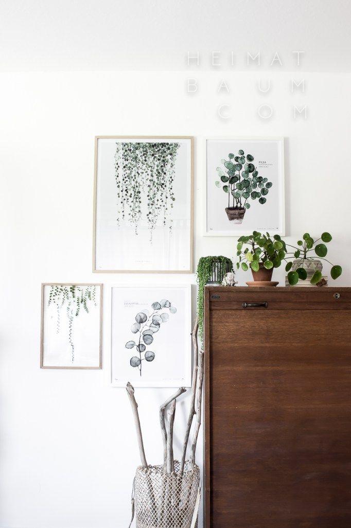 Botanic Art prints By My Deer Art Shop Picture credits Blog - dekoration küche selber machen