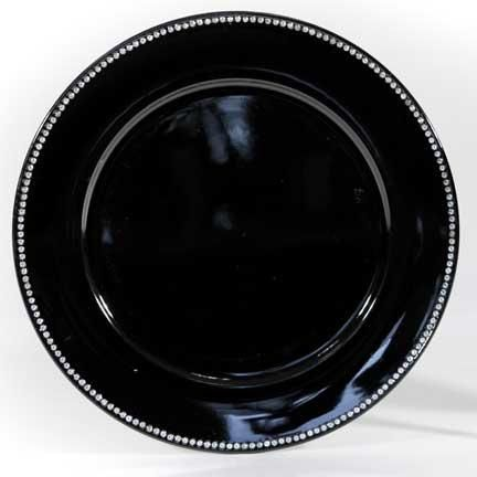 Charger Plate Black Diamond Linen Effects Minneapolis Mn Table Top Decor And Charger Plate Rentals Black Charger Plates Charger Plates Plates