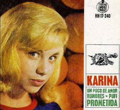 Cantantes Y Grupos En España De Los Años 50 A 70 Karina Discos De Vinilo Cantantes Amor