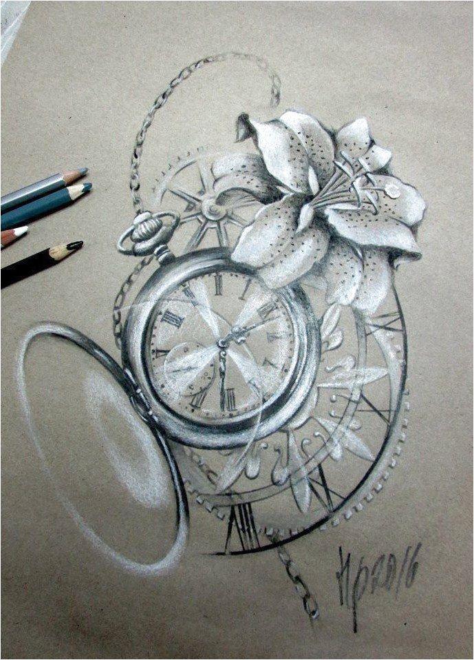 Znalezione obrazy dla zapytania clock tattoo #CreativeTattoos Click to see more.
