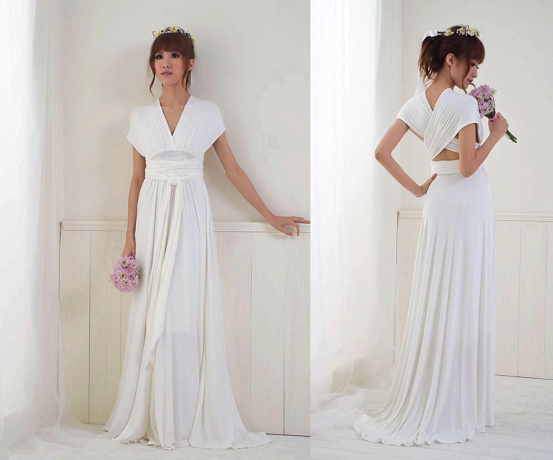 White or Ivory Convertible/Infinity Dress - Floor Length | Pinterest ...