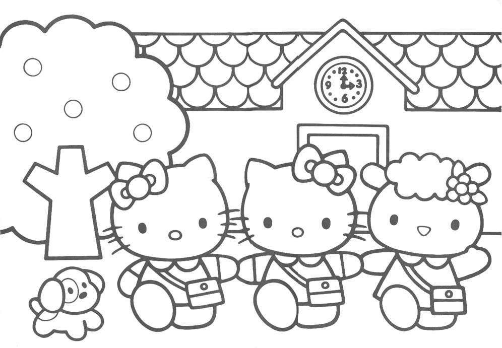 Free Printable Hello Kitty Coloring Pages For Kids Hello Kitty Coloring Hello Kitty Colouring Pages Kitty Coloring