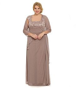 Alex Evenings Woman Beaded Empire Gown For The Mother Of The Bride