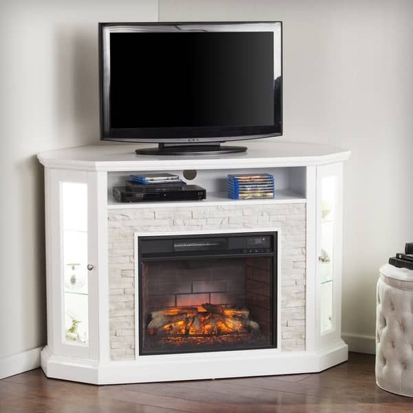 electric thayer white fireplace real product by overstock finish flame garden home free shipping