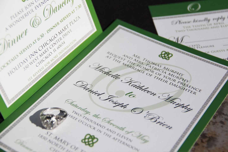 Irish Celtic Inspired Wedding Invitation Suite Knot Invitations
