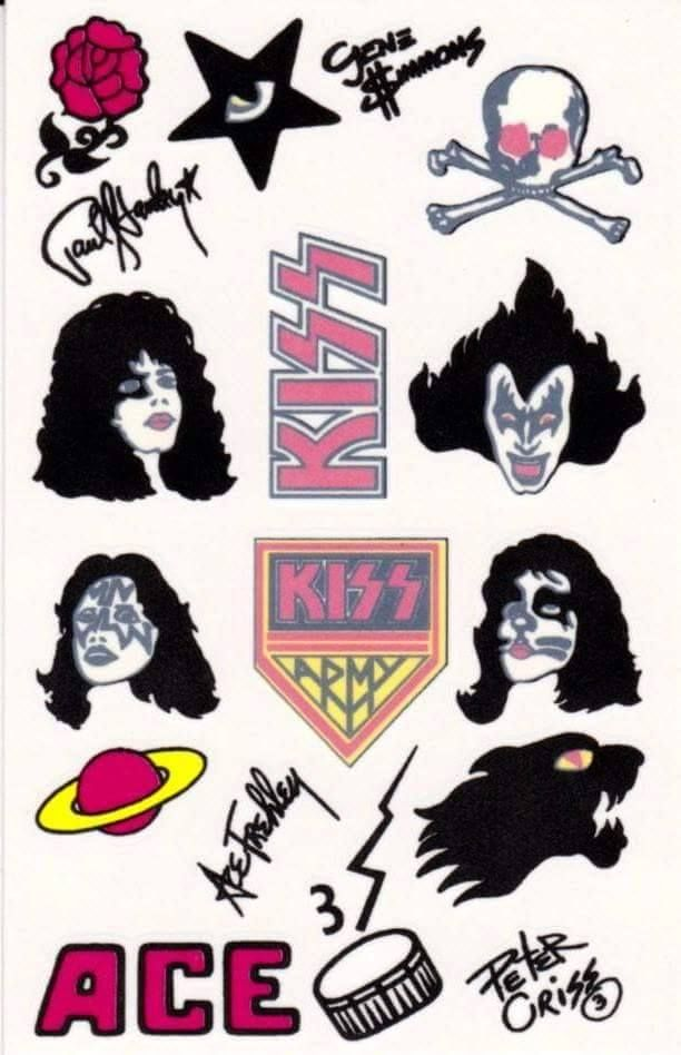 70 S Kiss Tattoos From Alive Ii Album With Images Kiss Tattoos
