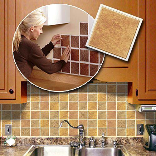 Sand Self Adhesive Backsplash Wall Tiles Set Of 27 Pinterest - Self-adhesive-backsplash-set