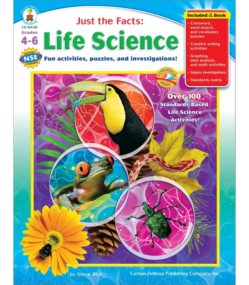 Just the Facts: Life Science Resource Book | Life science, Science ...