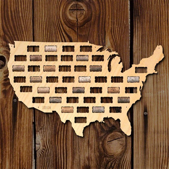 Etsy SALE! USA Wine Cork Map - Wine Cork Holder, USA Gifts, Wine ...
