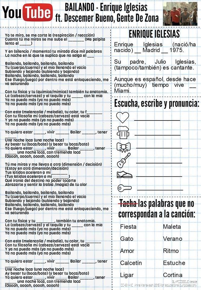Destinos Worksheet Answers Checks Worksheet