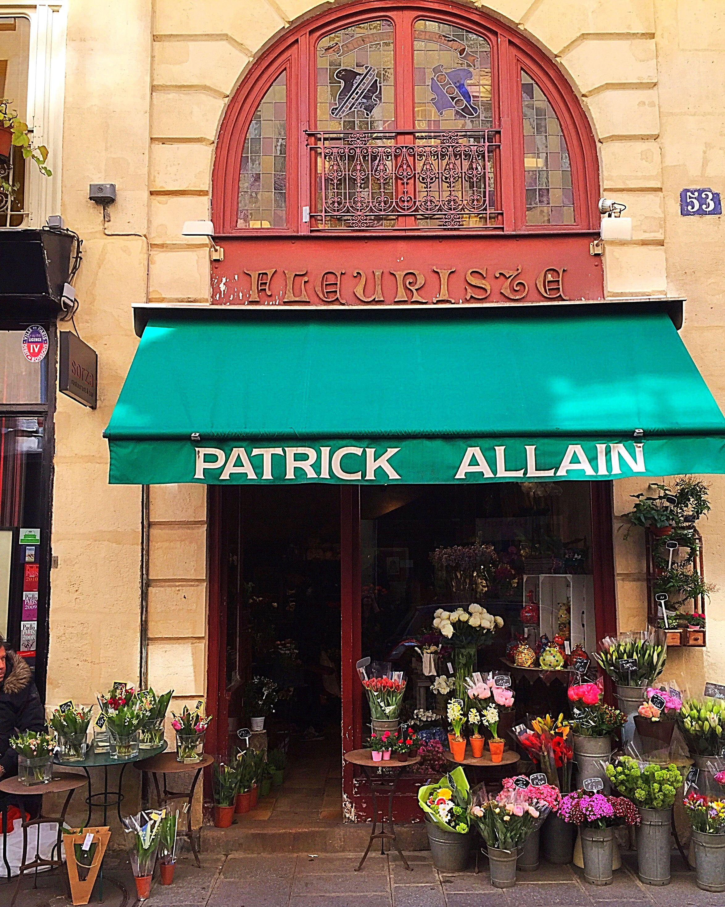 Another Shot of Paris' Oldest Fleuriste; Patrick Allain...