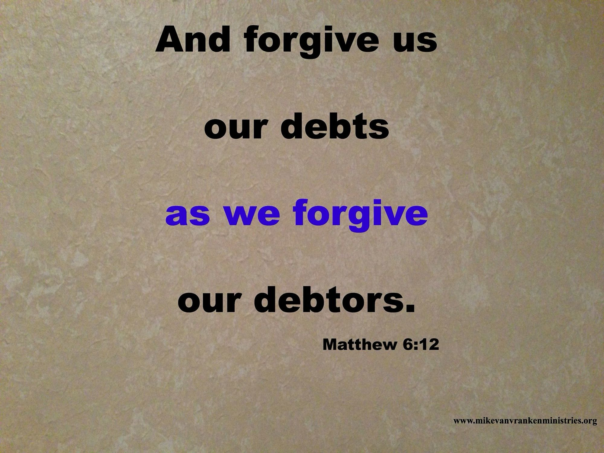 Forgive; then receive forgiveness.