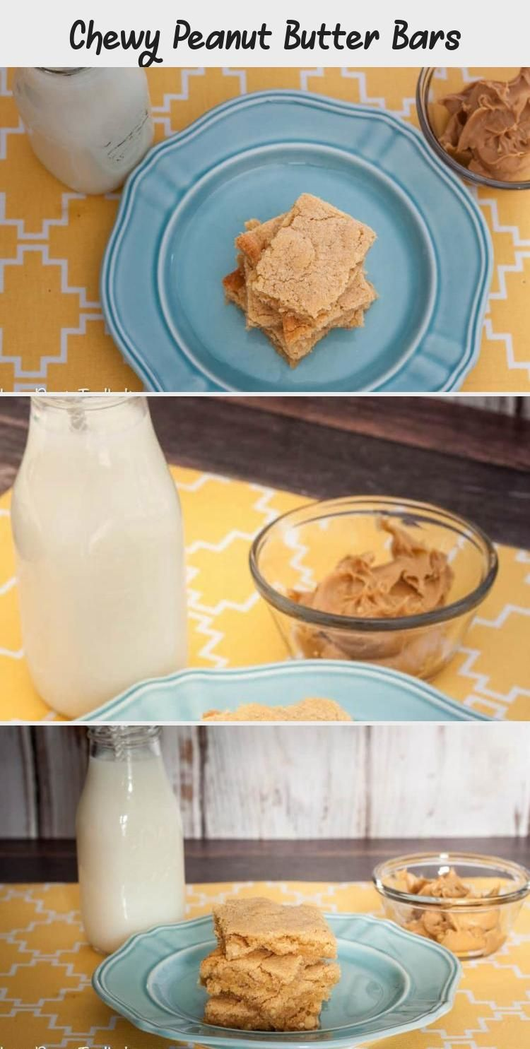 Photo of Make a sweet treat with these easy Chewy Peanut Butter Bars- Love, Pasta and a T…