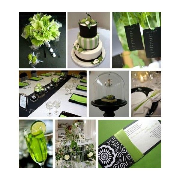 Bridal bouquet package lime green black silk wedding flowers bridal bouquet package lime green black silk wedding flowers liked on polyvore mightylinksfo Images