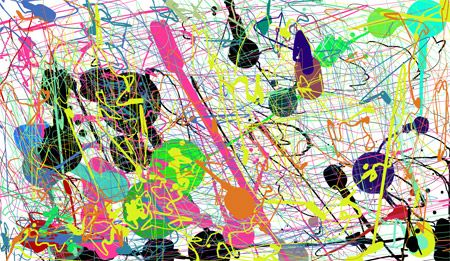 Pollock Action Painting