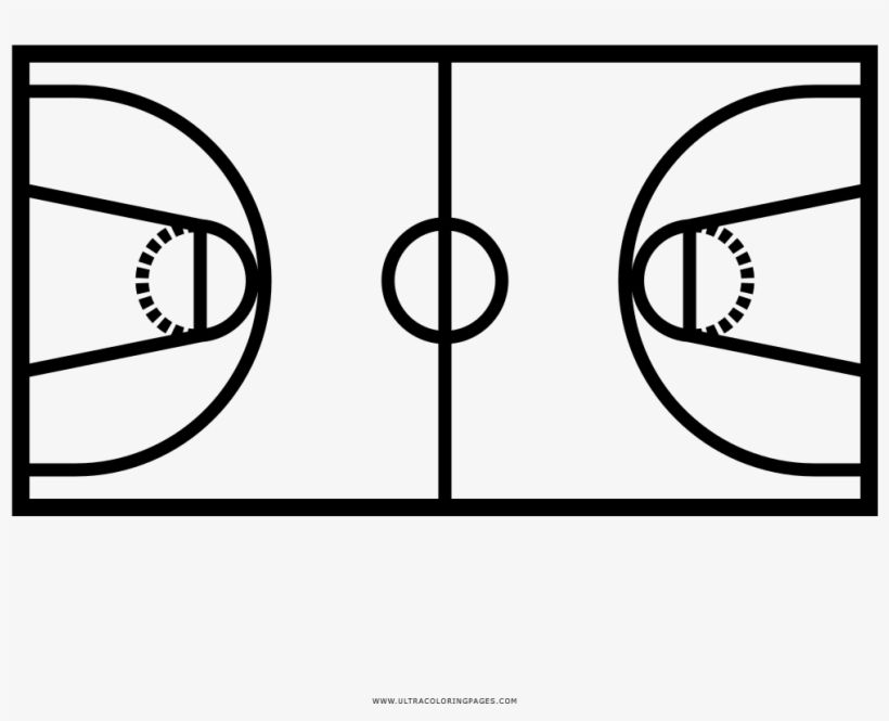 Download Basketball Court Coloring Page Dessin De Terrain De Basket Png Image For Free Search More High Quality F Coloring Pages Basketball Court Basketball