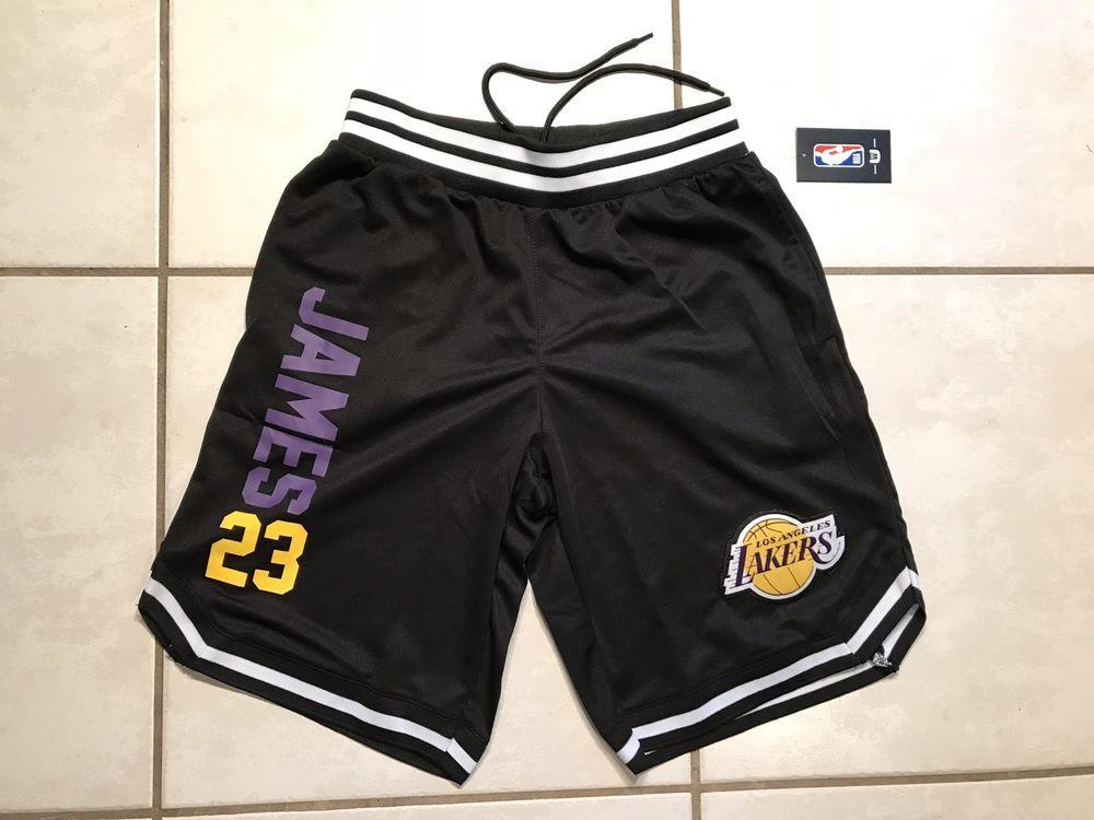 Nwt Unk Los Angeles Lakers Lebron James Black Nba Shorts Men S Xl Ebay Mens Shorts Mens Xl Gym Men