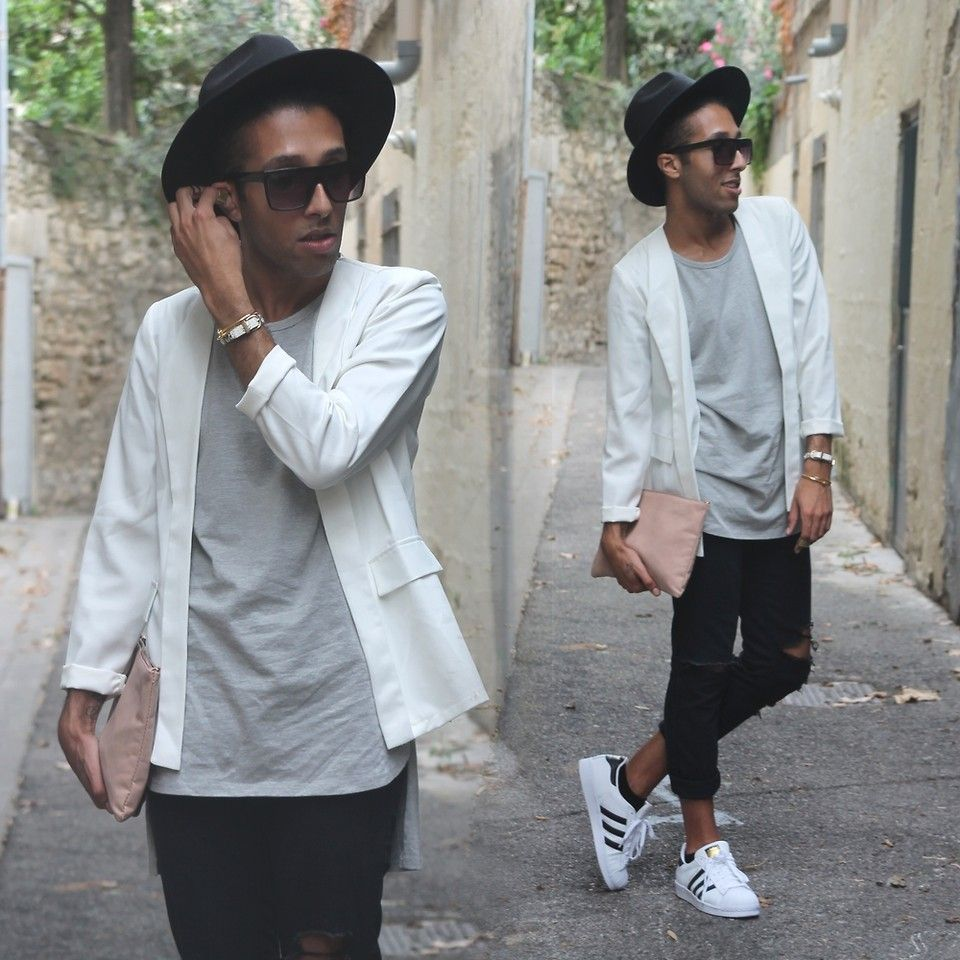 Adidas Superstar White Outfit Men