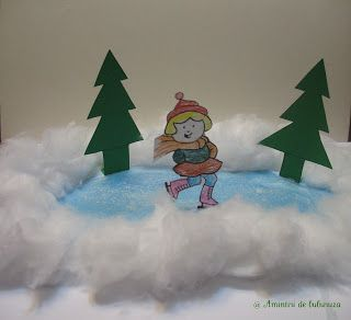 Image result for kid's ice skating picture craft