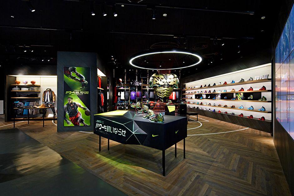 timido recinto Molestatore  Nike Basketball Store in Japan by Specialnormal   Basketball store,  Basketball shop, Nike retail
