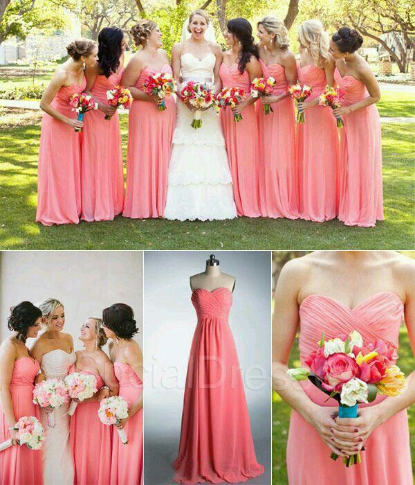 montar Alabama manipular  Damas de honor | Boda coral, Vestidos de damas de honor, Cosas de boda
