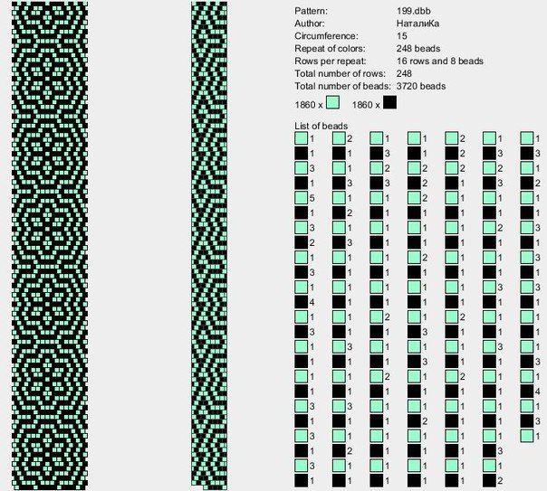 Жгуты из бисера схемы | DIY | Pinterest | Mostacilla, Collares con ...