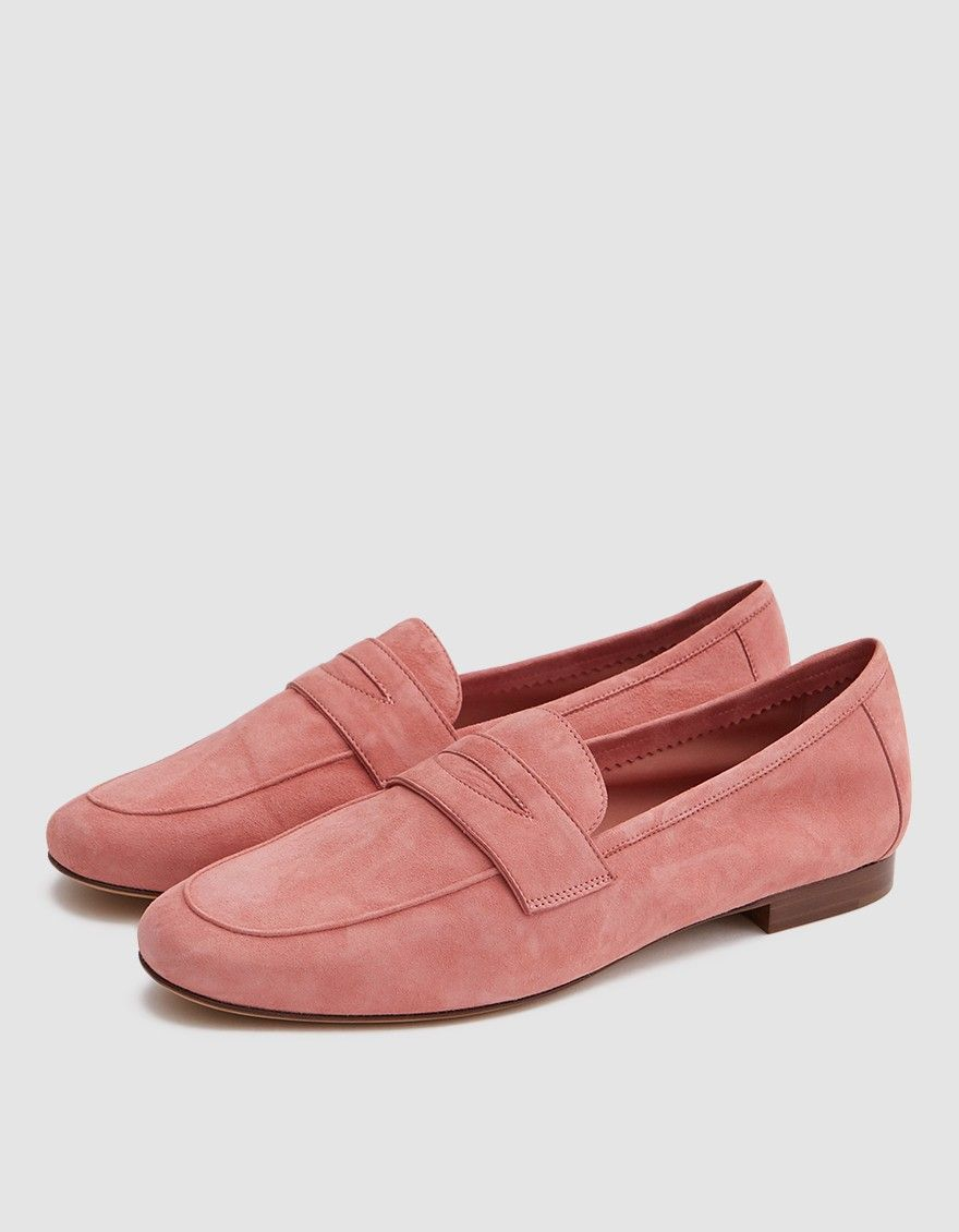 Mansur Gavriel Pink Suede Classic Loafers jQACaXj
