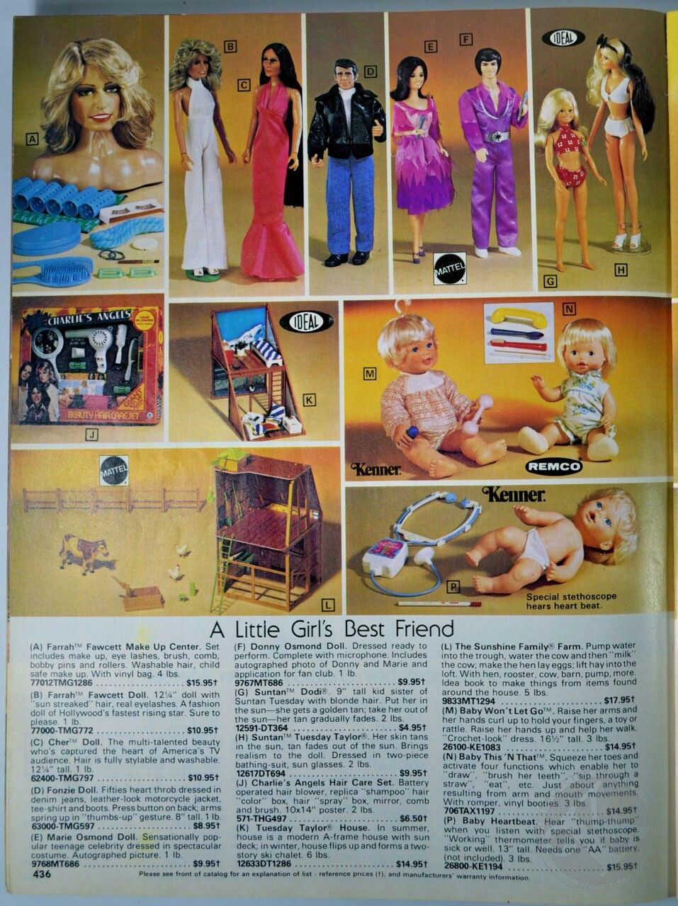 Toys in a 1980 Service Merchandise Catalog Vintage doll