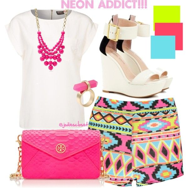 Neon Addict! by jodiescloset on Polyvore