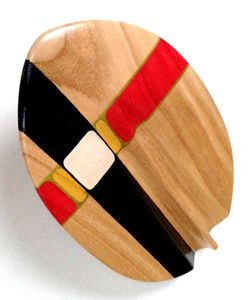 Image of Barrel Rider 2 Custom Stain/Artwork black/red hand plane surfing