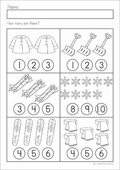 winter math worksheets activities no prep kindergarten math math worksheets school. Black Bedroom Furniture Sets. Home Design Ideas