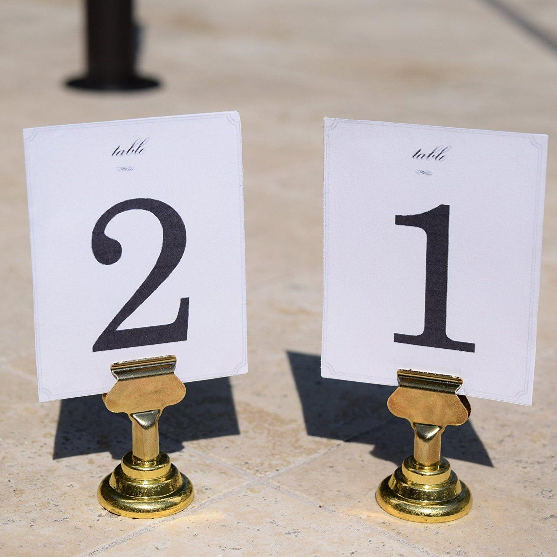 Table Cardholder Tabletop Menu Holder Bronze Harp-Clip Number Recipe Holder Reserved Card Holder Place Card Holder For Restaurants Rustic Weddings Banquet 12 pack Antique Copper