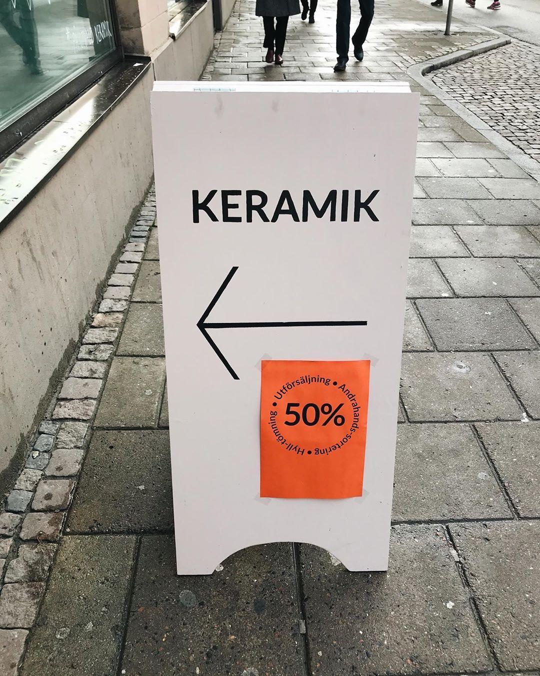 Idag och imorgon kör vi 50% på halva butiken, sånt som inte blev som man tän…