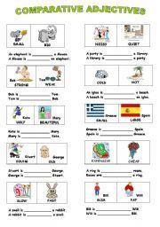 Comparative Adjectives Worksheets For Kids | 교육