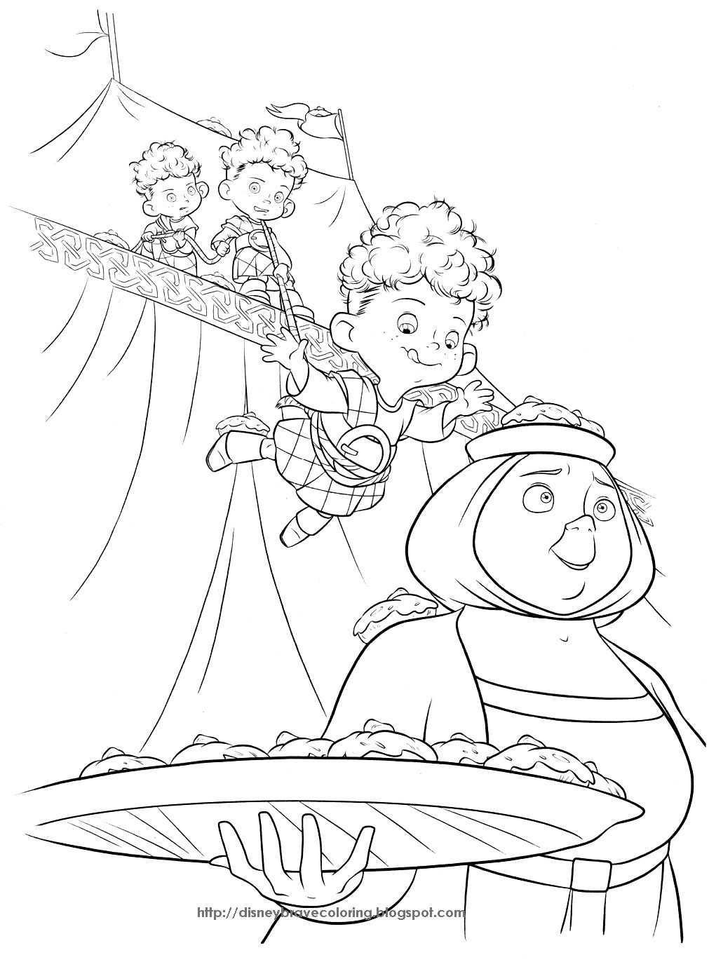 PRINCESS COLORING PAGES: BRAVE COLORING PAGES OF MERIDA | Coloring ...
