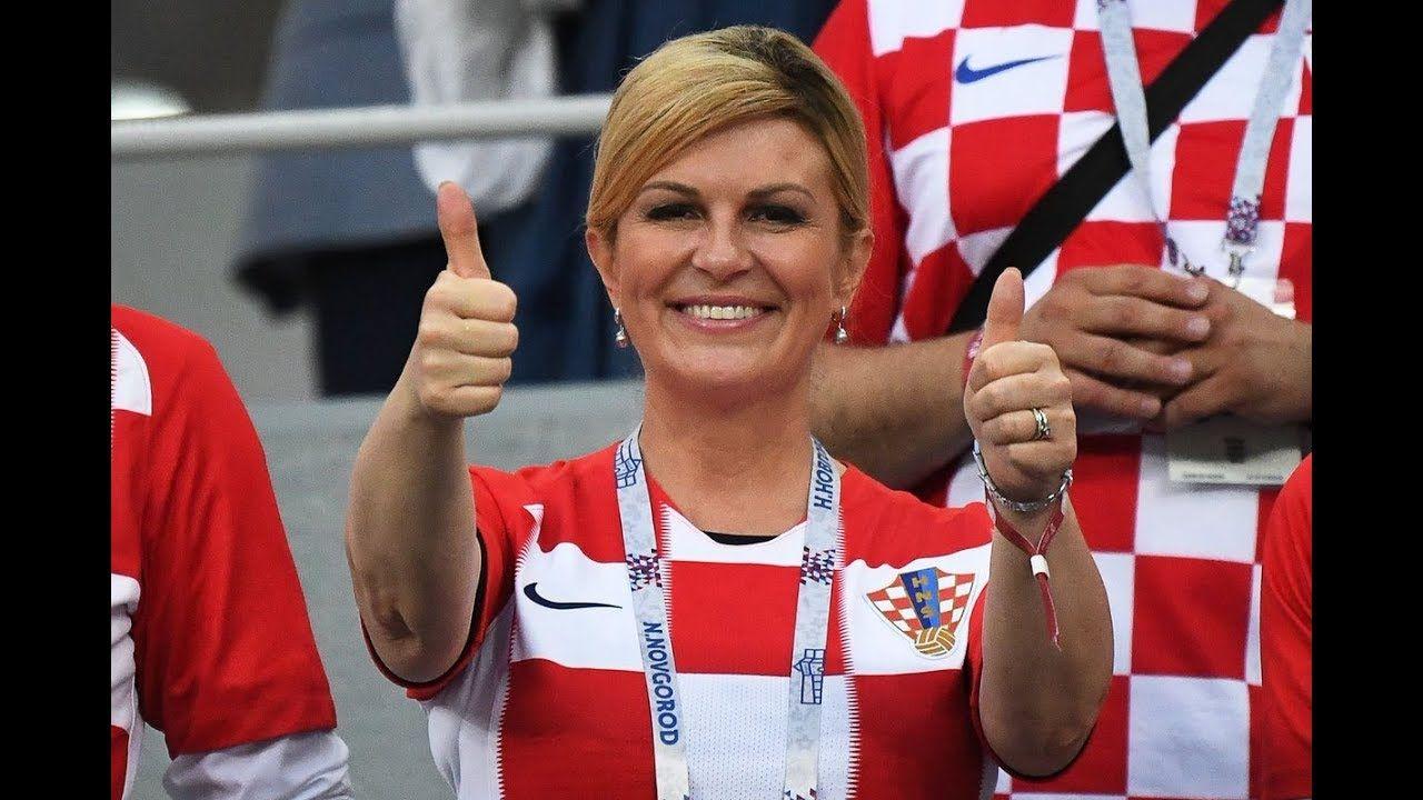 Croatia President Celebrating with Team - YouTube