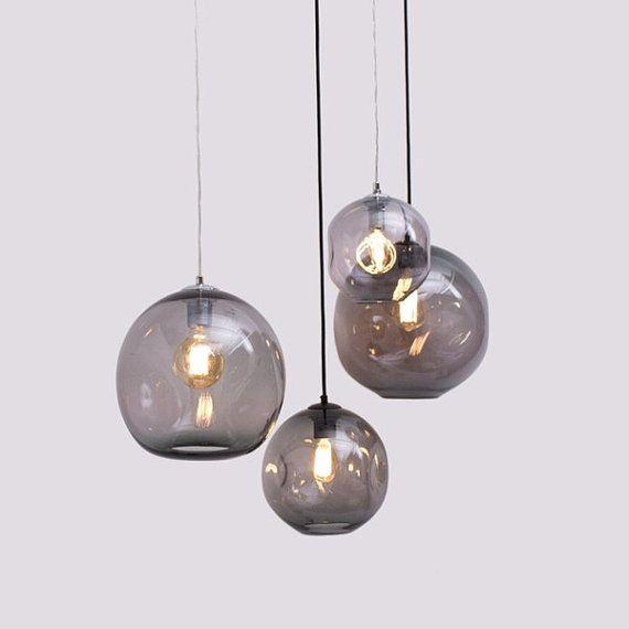 Dinted Orb Pendentif Light Par Markdouglassdesign Sur Etsy Glass