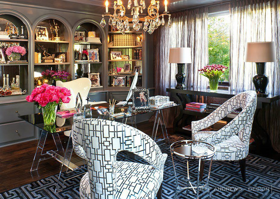 Perfect For Kris Jenneru0027s Office, Jeff Andrews Outfitted The Space With Bold  Geometric Patterns, A