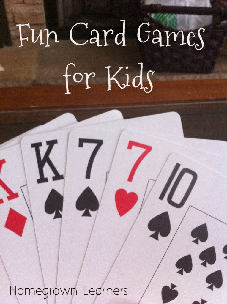 Have some FUN with Cards! Card games for kids, Fun card